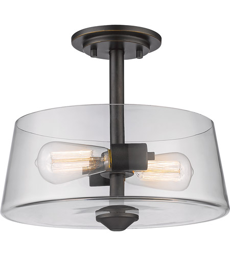 Z-Lite 428SF2-OB Annora 2 Light 12 inch Olde Bronze Semi Flush Mount Ceiling Light photo