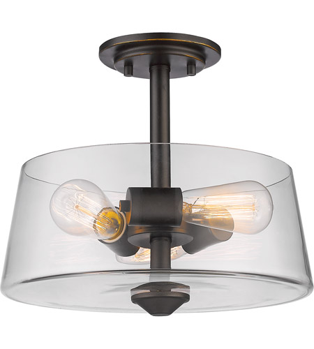 Z-Lite 428SF3-OB Annora 3 Light 14 inch Olde Bronze Semi Flush Mount Ceiling Light photo