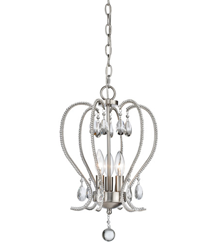 Z-Lite 429-3-BN Serenade 3 Light 13 inch Brushed Nickel Mini Chandelier Ceiling Light photo