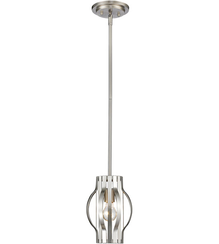Z-Lite Brushed Nickel Steel Moundou Pendants