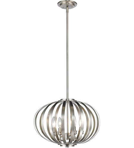 Z-Lite Brushed Nickel Moundou Pendants