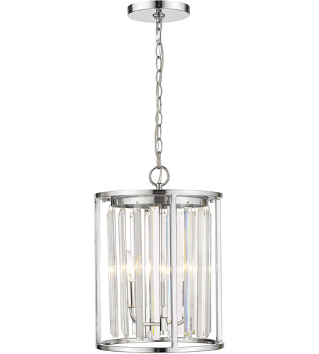 Z-Lite 439-3CH Monarch 3 Light 12 inch Chrome Chandelier Ceiling Light photo