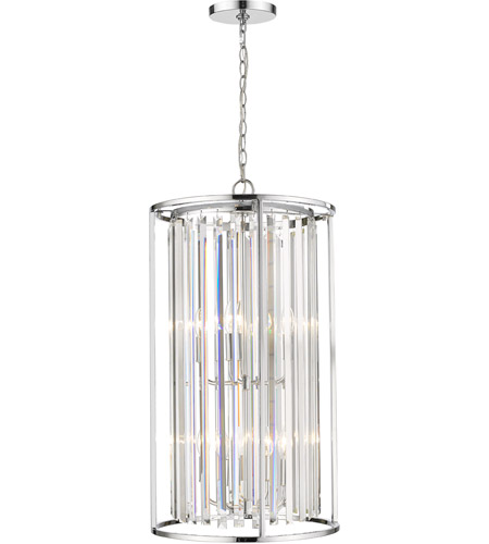 Z-Lite 439-8CH Monarch 8 Light 17 inch Chrome Chandelier Ceiling Light photo