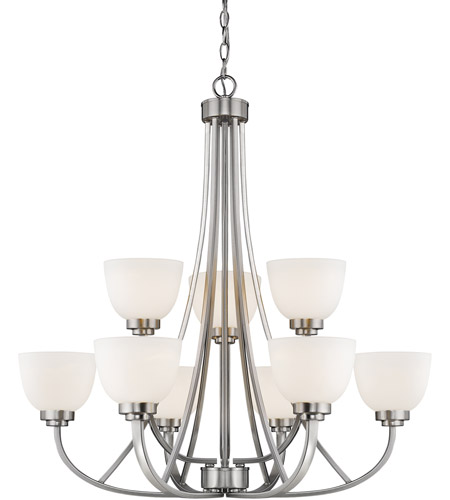 Z-Lite 443-9-BN Ashton 9 Light 31 inch Brushed Nickel Chandelier Ceiling Light photo