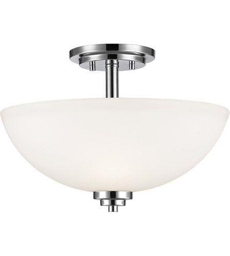 Z-Lite 443SF-CH Ashton 3 Light 16 inch Chrome Semi Flush Mount Ceiling Light photo