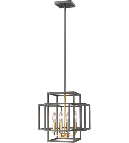 Z-Lite 454-14BRZ-OBR Titania 4 Light 14 inch Bronze and Olde Brass Pendant Ceiling Light  sc 1 st  Z-Lite Lighting Lights & Z-Lite 454-14BRZ-OBR Titania 4 Light 14 inch Bronze and Olde Brass ...
