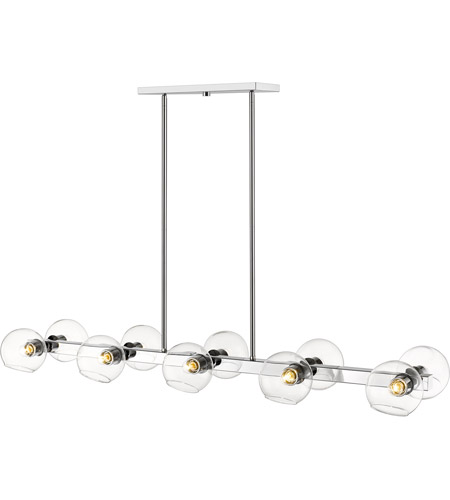 Z-Lite 455-10L-CH Marquee 10 Light 14 inch Chrome Pendant Ceiling Light photo thumbnail