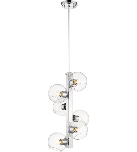 Z-Lite 455-6CH Marquee 6 Light 14 inch Chrome Pendant Ceiling Light photo thumbnail