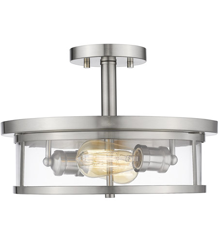 Z-Lite 462SF14-BN Savannah 2 Light 14 inch Brushed Nickel Semi Flush Mount Ceiling Light photo