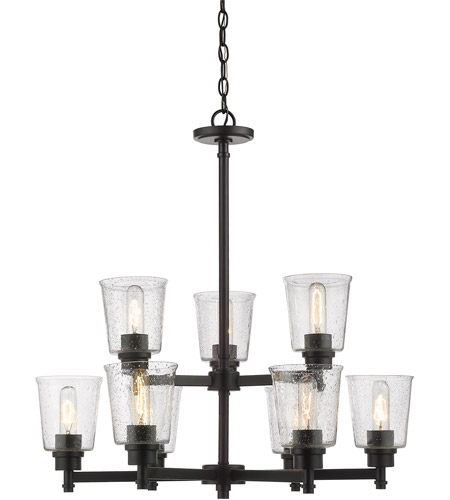 Z-Lite 464-9MB Bohin 9 Light 28 inch Matte Black Chandelier Ceiling Light photo