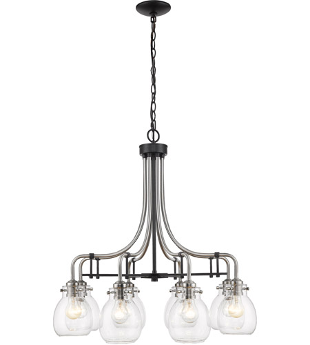 Z-Lite 466-8MB-BN Kraken 8 Light 28 inch Matte Black and Brushed Nickel Chandelier Ceiling Light photo