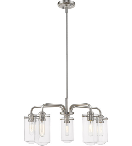 Z-Lite 471-5BN Delaney 5 Light 24 inch Brushed Nickel Chandelier Ceiling Light photo