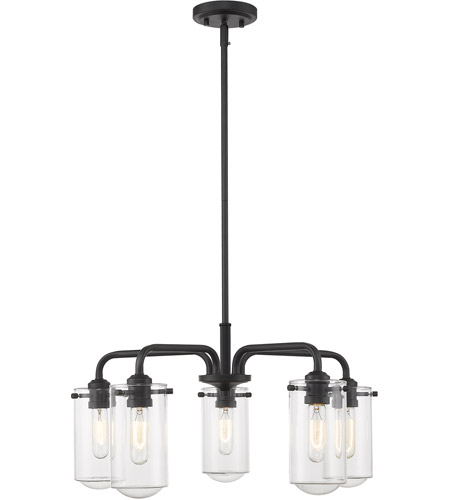 Z-Lite 471-5MB Delaney 5 Light 24 inch Matte Black Chandelier Ceiling Light photo