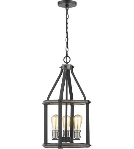 Z Lite 472 3p Abb Kirkland 3 Light 12 Inch Ashen Barnboard Pendant Ceiling