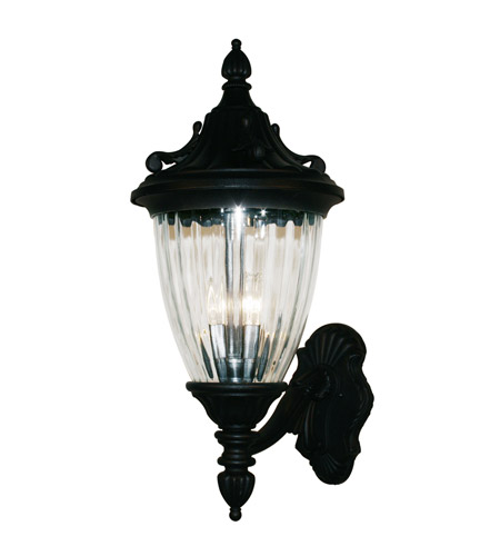 Z-Lite Waterloo 3 Light Outdoor Wall Light in Black 504B-BK photo