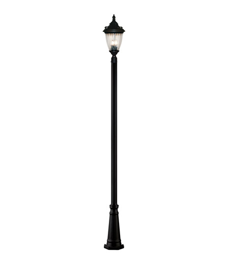 Z-Lite Waterloo 3 Light Outdoor Post Light in Black 504PHB-519P-BK photo