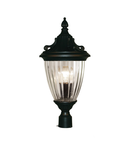 Z-Lite Waterloo 1 Light Post Light in Black 504PHM-BK photo