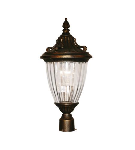 Z-Lite Waterloo 1 Light Post Light in Black Gold 504PHS-BG photo