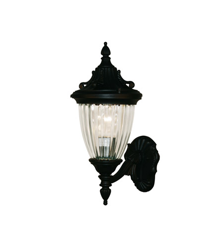 Z-Lite Waterloo 1 Light Outdoor Wall Light in Black 504S-BK photo