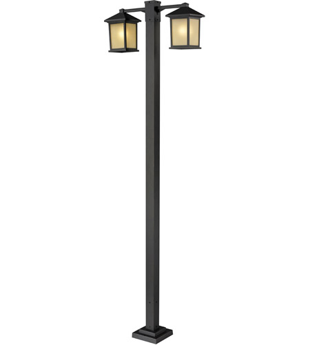 Z-Lite Holbrook 2 Light 2 Head Outdoor Post Light in Oil Rubbed Bronze 507-2-536P-ORB photo