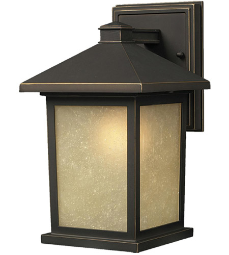 Z-Lite 507M-ORB Holbrook 1 Light 14 inch Oil Rubbed Bronze Outdoor Wall Sconce in Tinted Seedy photo
