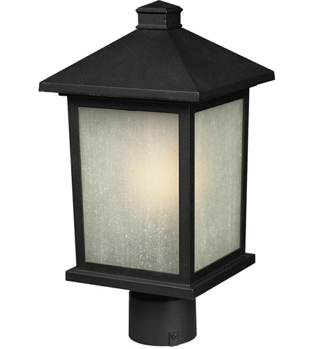 Z-Lite Holbrook 1 Light Post Light in Black 507PHM-BK photo