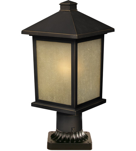 Z-Lite Holbrook 1 Light Post Light in Olde Rubbed Bronze 507PHM-ORB-PM photo