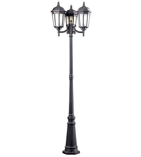 Z-Lite Newport 3 Light Post Light in Antique Bronze 508M-P3-ABR photo