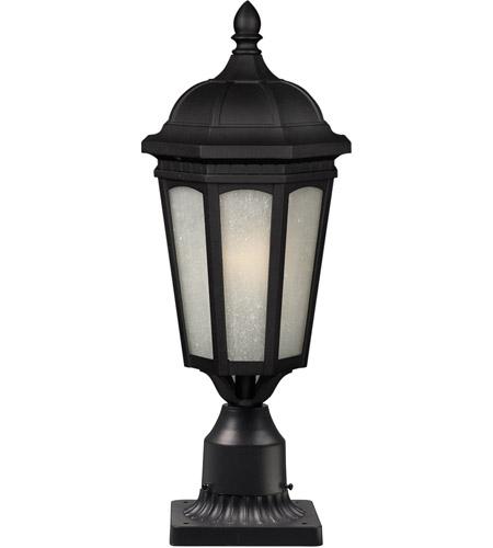 Z-Lite Newport 1 Light Post Light in Black 508PHM-BK-PM photo