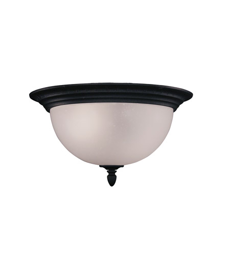 Z-Lite 510F-BK Signature 2 Light 14 inch Black Outdoor Flush Mount photo