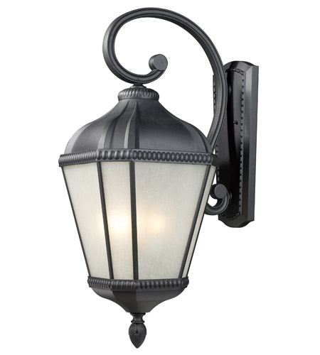 Z-Lite Waverly 4 Light Outdoor Wall Light in Black 513B-BK photo