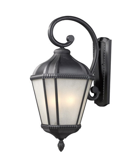 Z-Lite 513M-BK Waverly 3 Light 27 inch Black Outdoor Wall Sconce photo