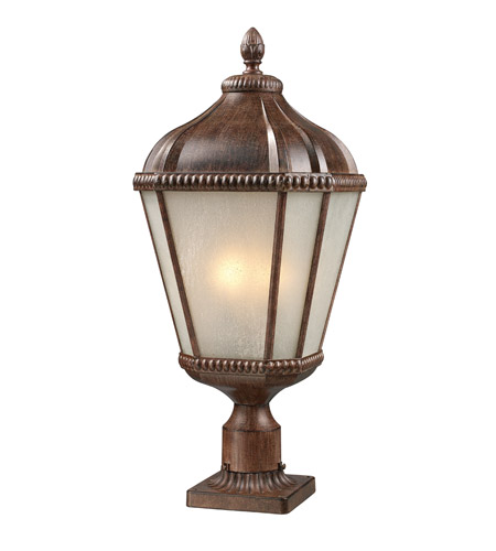 Z-Lite Waverly 3 Light Post Light in Weathered Bronze 513PHM-WB-PM photo