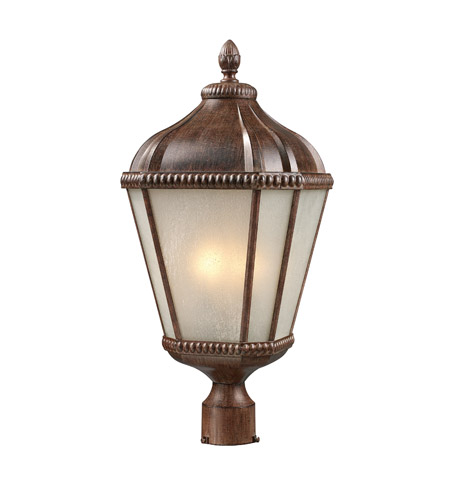 Z-Lite Waverly 3 Light Post Light in Weathered Bronze 513PHM-WB photo