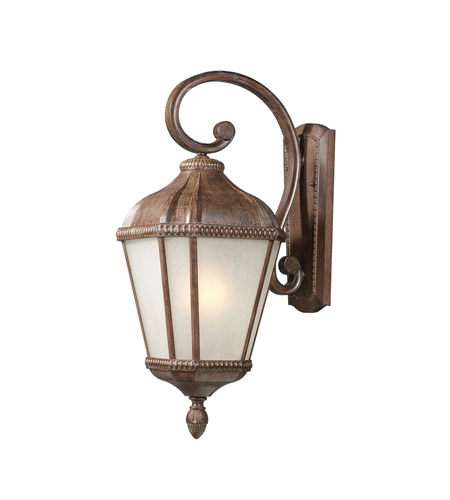Z-Lite Waverly 1 Light Outdoor Wall Light in Weathered Bronze 513S-WB photo