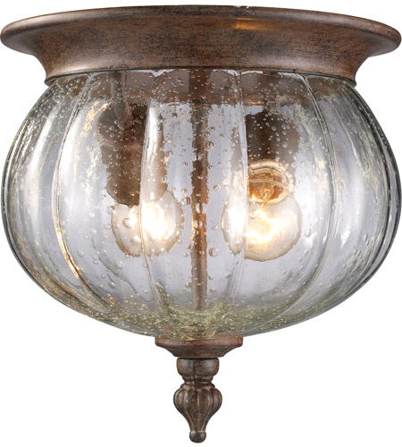 Z-Lite 516F-WB Belmont 2 Light 10 inch Weathered Bronze Outdoor Flush Ceiling Mount Fixture photo