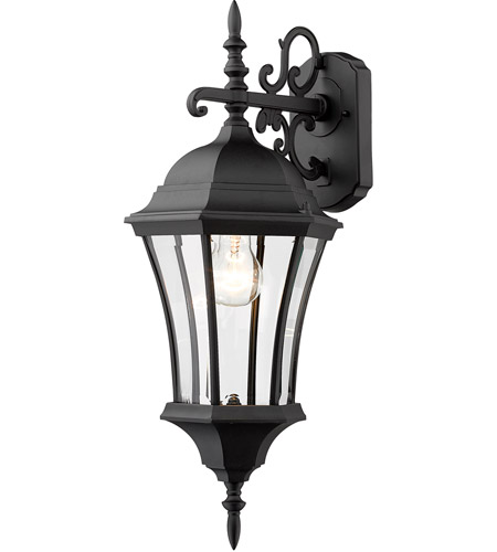 Z-Lite Wakefield 1 Light Outdoor Wall Light in Black 522M-BK photo