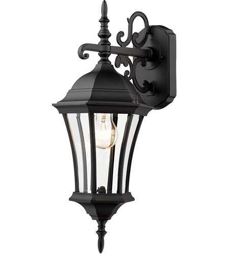 Z-Lite Wakefield 1 Light Outdoor Wall Light in Black 522S-BK photo