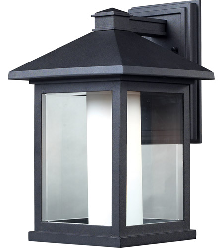 Z-Lite 523B Mesa 1 Light 16 inch Black Outdoor Wall Sconce photo