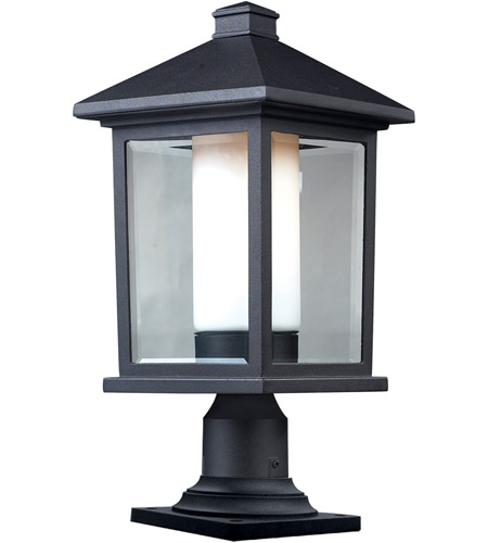 Z-Lite 523PHB-533PM-BK Mesa 1 Light 20 inch Black Outdoor Pier Mounted Fixture photo