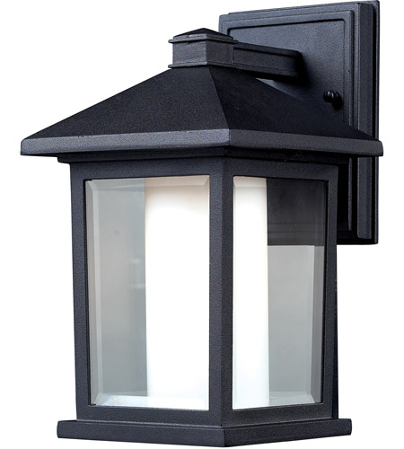 Z-Lite 523S Mesa 1 Light 11 inch Black Outdoor Wall Sconce photo