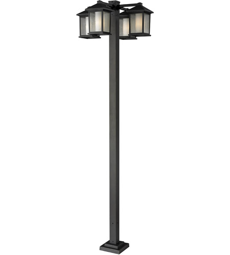 Z-Lite 524-4-536P-ORB Mesa 4 Light 99 inch Oil Rubbed Bronze Outdoor Post photo
