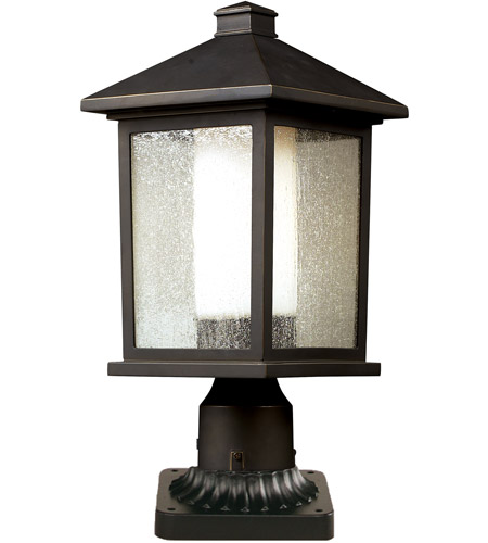 Z-Lite 524PHM-PM Mesa 1 Light 19 inch Oil Rubbed Bronze Outdoor Pier Mount  photo