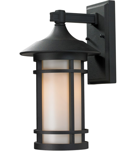 Z-Lite 527M-BK Woodland 1 Light 15 inch Black Outdoor Wall Sconce photo thumbnail