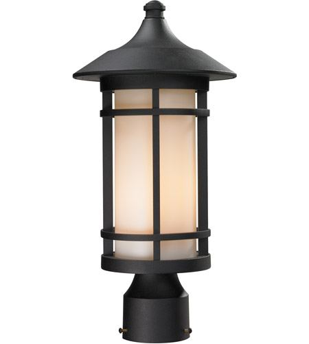 Z-Lite Black Woodland Post Lights