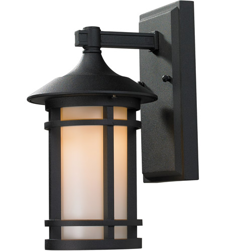 Z-Lite 527S-BK Woodland 1 Light 11 inch Black Outdoor Wall Sconce photo