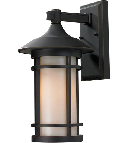Z-Lite 528M-ORB Woodland 1 Light 15 inch Oil Rubbed Bronze Outdoor Wall Sconce photo thumbnail