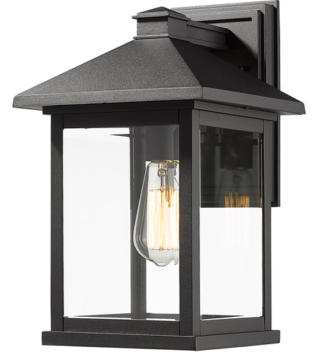 Z-Lite 531B-BK Portland 1 Light 16 inch Black Outdoor Wall Sconce photo