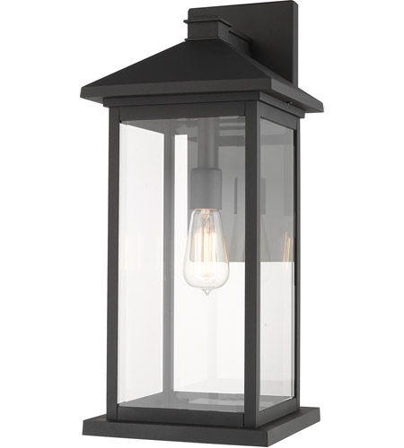 Z-Lite 531BXL-BK Portland 1 Light 22 inch Black Outdoor Wall Sconce photo