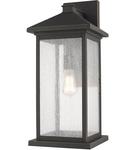 Z-Lite 531BXL-ORB Portland 1 Light 22 inch Oil Rubbed Bronze Outdoor Wall Sconce photo
